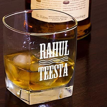 Personalised Set Of 2 Whiskey Glasses 1059: Gifts for Wedding