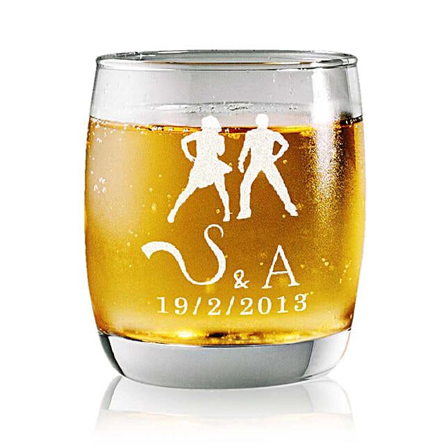 Personalised Set Of 2 Whiskey Glasses 2362: Personalised Glassware