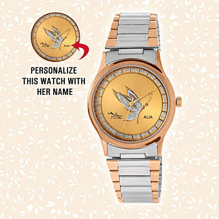 Personalised Silver & Golden Watch: