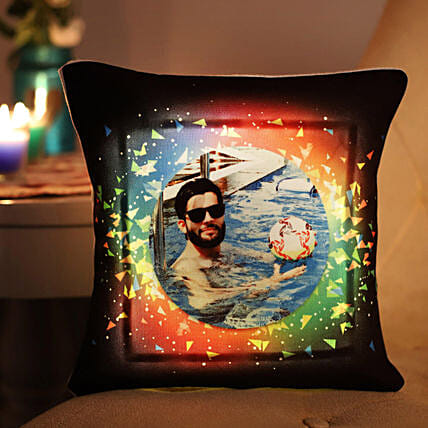 Personalised Vibrant LED Cushion: Brothers Day Gifts
