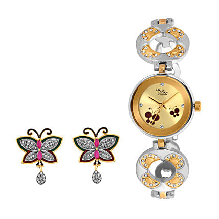 Personalised Watch & Butterfly Earrings Set: Personalised Watches