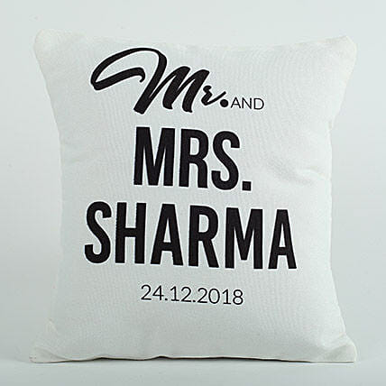 Personalized Cushion Mr N Mrs: Personalised Gifts Belgaum