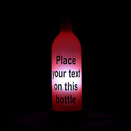 Personalized Lamp: Bottle Lamps