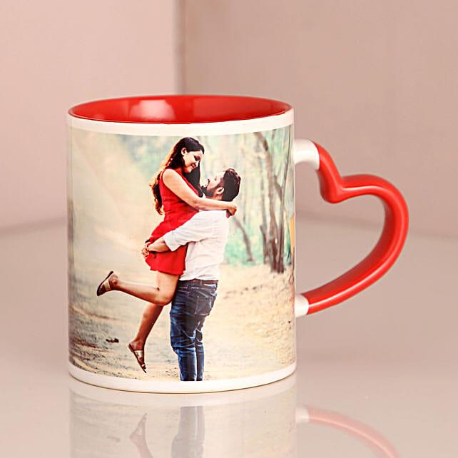 Personalized Red Ceramic Mug: Buy Coffee Mugs