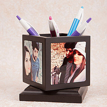 Personalized Rotating Pen Holder: Gifts to Jhansi
