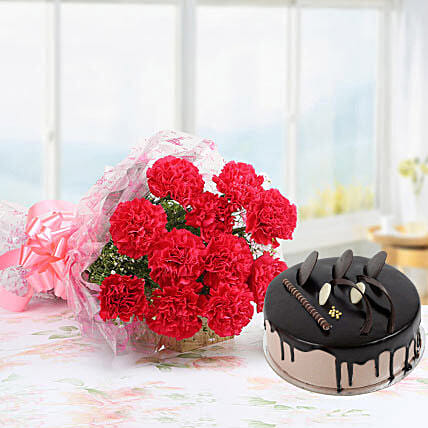 Pink Carnations And Chocolate Cake: Send Carnations
