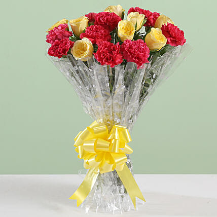 Posy Of Carnations & Roses: