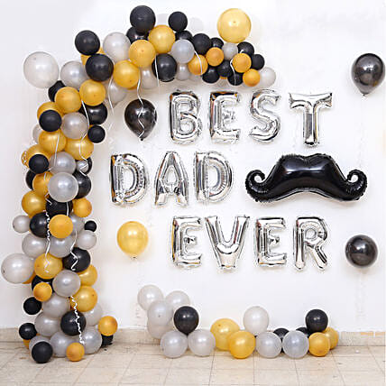 Premium Classy Balloon Decor for Best Dad Ever: Balloons Decorations