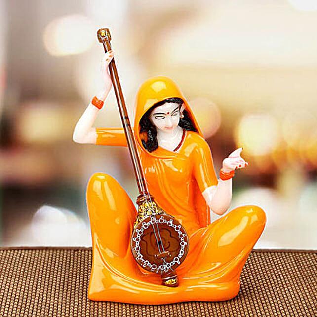 Premium Marble Mirabai Idol: Handmade Gifts