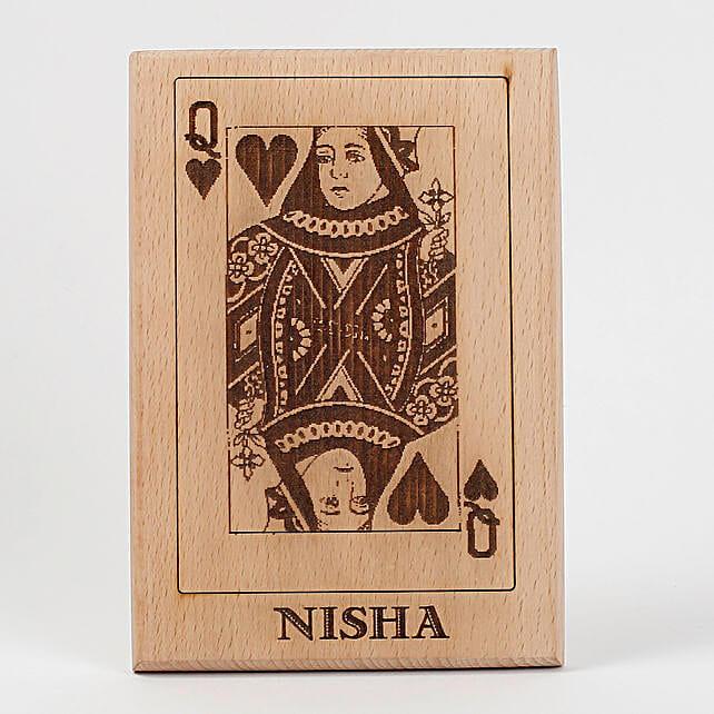 Queen of Hearts Wooden Plaque: