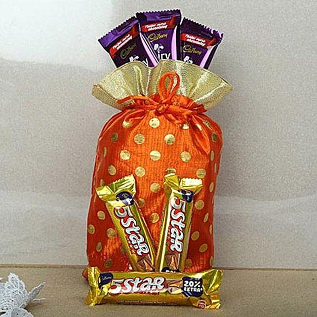 Red Chocolates Potli: Gifts for Basant Panchami