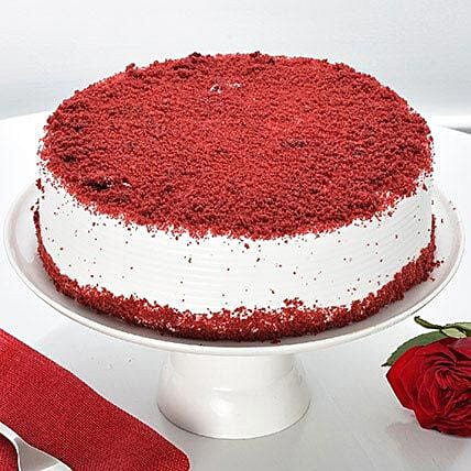 Red Velvet Fresh Cream Cake: Send Gifts to Noida