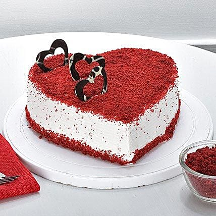 Red Velvet Heart Cake Delivery In Hyderabad