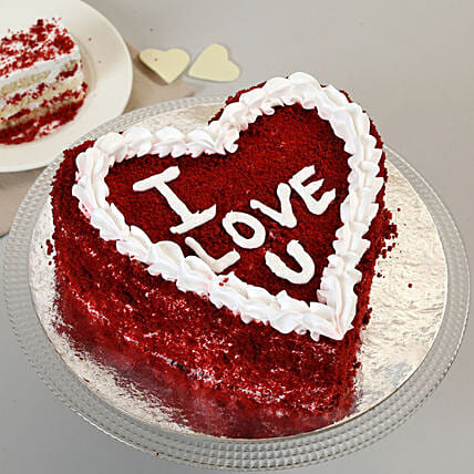 Red Velvet Love Cake: Red Velvet Cakes Delivery
