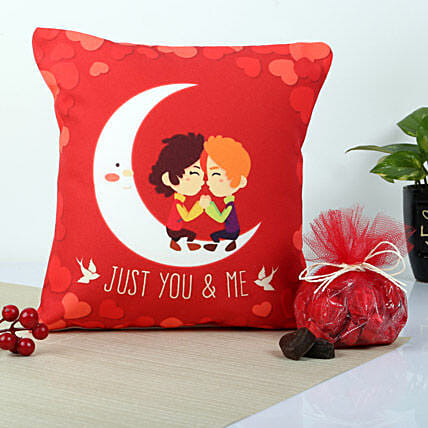 Red You And Me Cushion: Chocolate Combos
