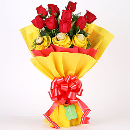 Roses N Chocolates Delight Chocolate Bouquet