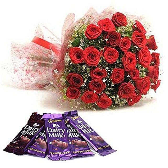 Rush Of Romance: Flowers with Chocolates