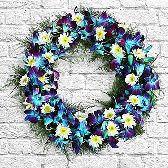 Serene Flower Wreath: Sympathy N Funeral
