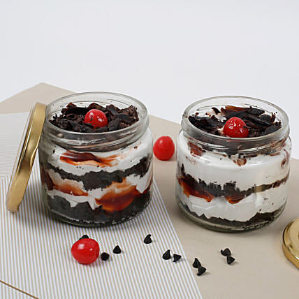 Set of 2 Sizzling Black Forest Jar Cake: Thanksgiving Day Gifts