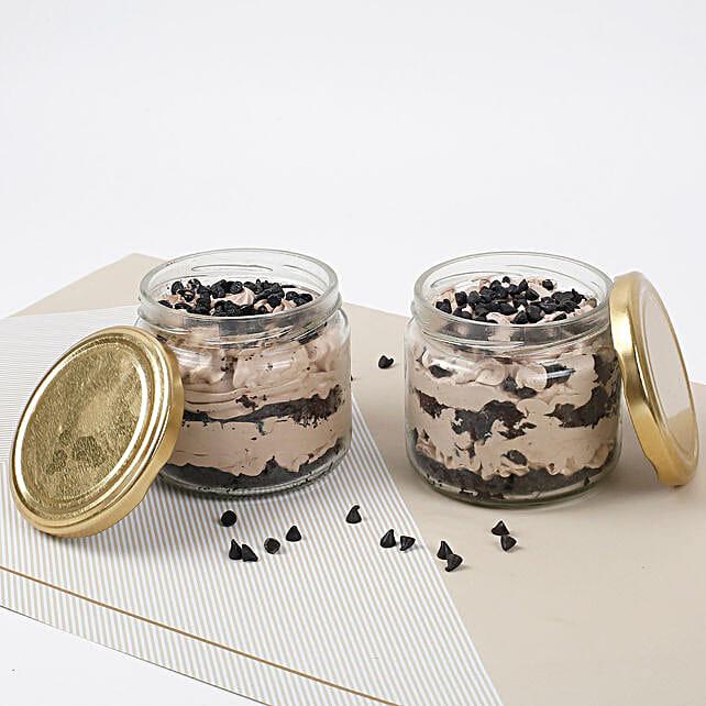 Set of 2 Vivacious Chocolate Jar Cake: Chocolate Cake