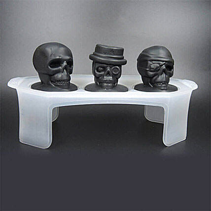 Skull Ice Mould Set Of 3: Funny Gifts