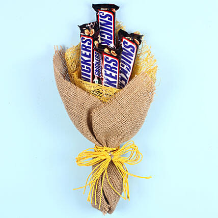 Snickers Chocolate Bouquet: Send Chocolate Bouquet