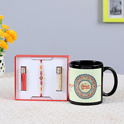 Special Rakhi & Printed Mug Combo: Rakhi With Other Gifts