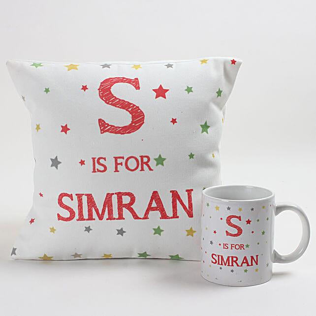 Starry Personalised Cushion & Mug Combo: Girlfriends Day Gifts