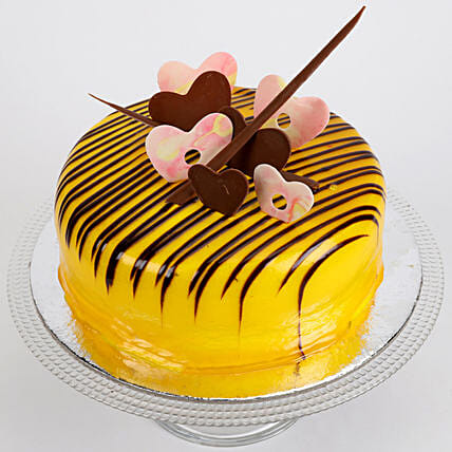Striped Hearts Cake: Send Butterscotch Cakes