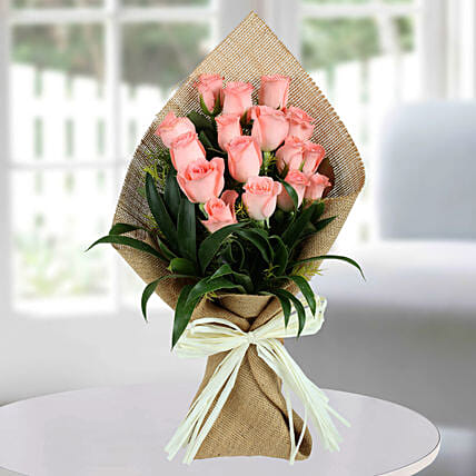 Sweet Pink Roses Bunch: Flower Bouquets