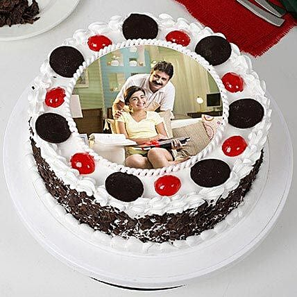Tasty Black Forest Photo Cream Cake For Fathers Day Cakes