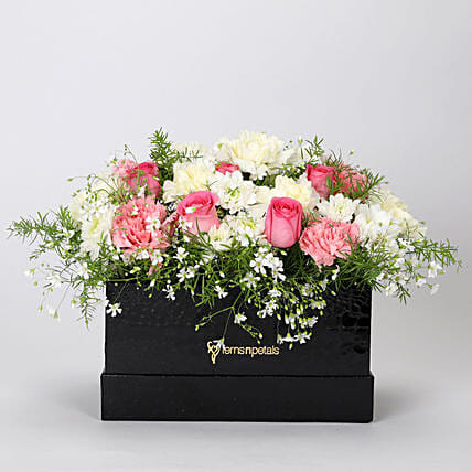 The Dainty Floral Box Arrangement: Flowers In box