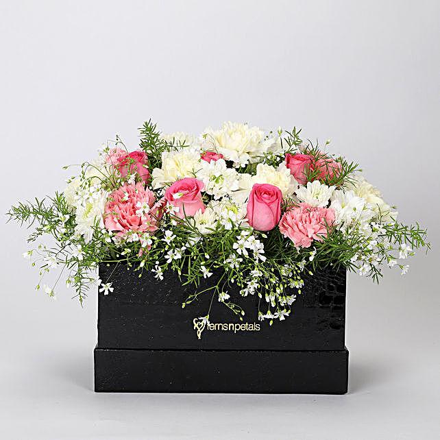 The Dainty Floral Box Arrangement: Send Carnations