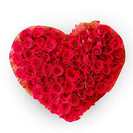 Precious 100 Red Roses Heart: Heart Shaped Gifts