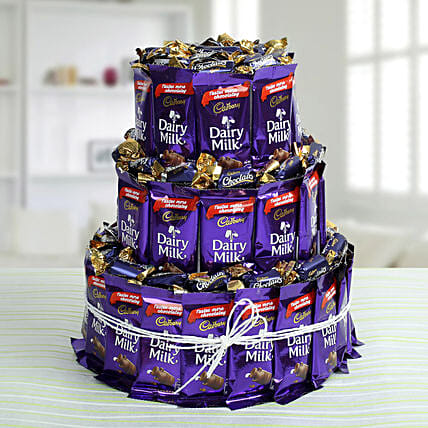 Dairy Milk Chocolate & Eclairs Arrangement: Chocolate Bouquet