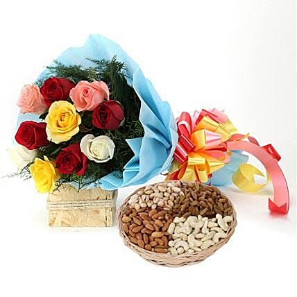 Treat Me with Rakhi: Exotic Rose Arrangements