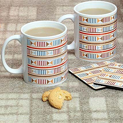 Trendy Mugs With Coasters: Coasters Gifts