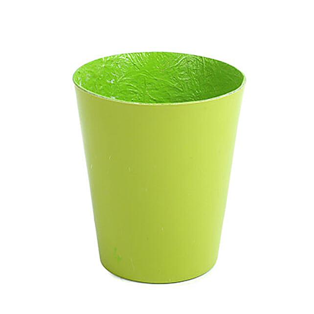 Unbreakable Green Fiber Vase: Pots and Planters
