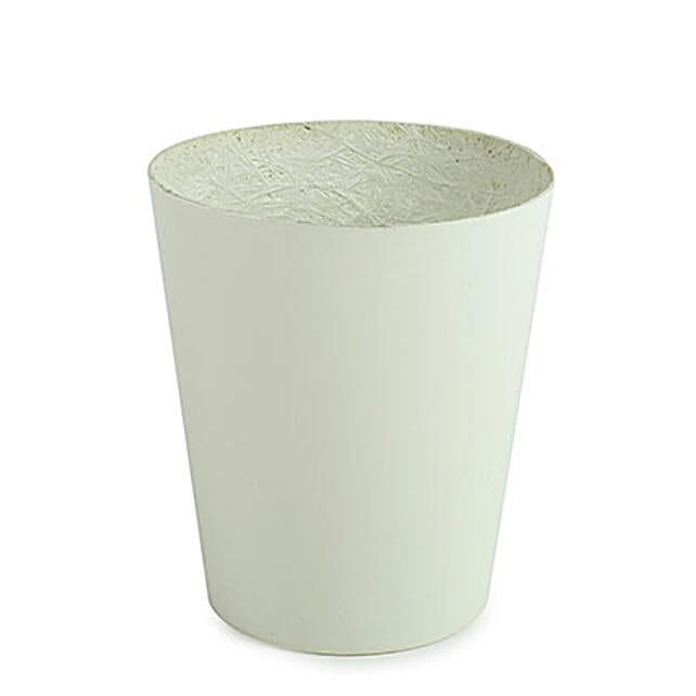 Unbreakable White Fiber Vase: Pots for Plants