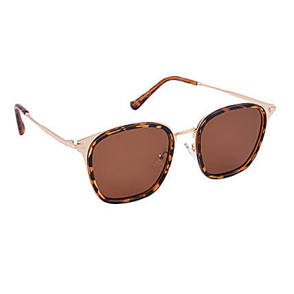 Brown Wayfarer Unisex Sunglasses: Fashion Accessories