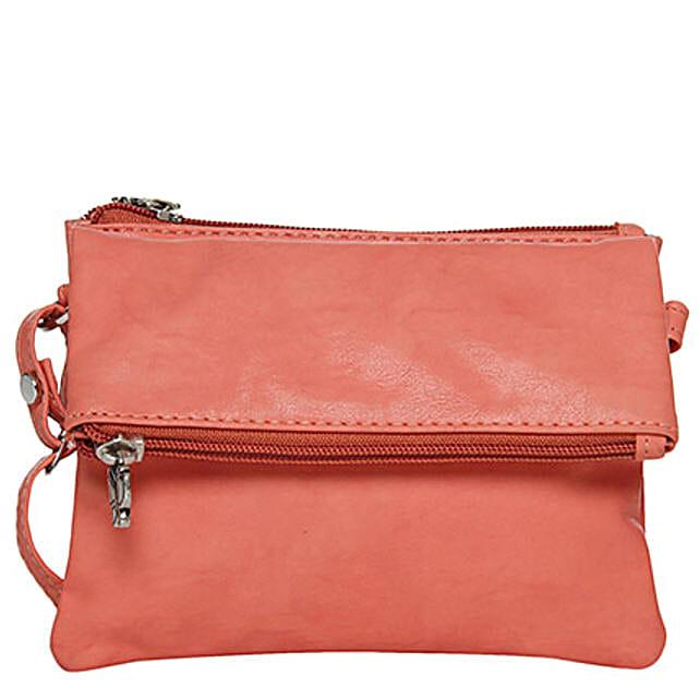 Butterflies Classy Dark Peach Sling Bag: Handbags and Wallets