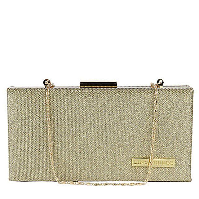 Classic Lino Perros Golden Women Clutch: Accessories