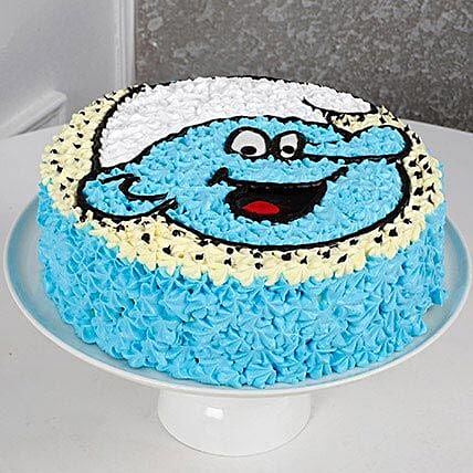 Cute Smurf Cream Cake: Gifts for Childrens Day