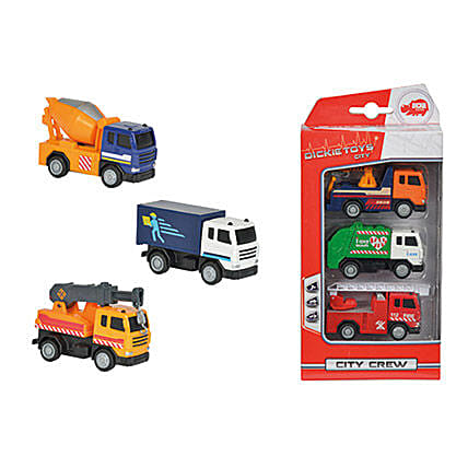 Dickie City Crew 3 Pack with Cool Dude Smiley: Toys and Games