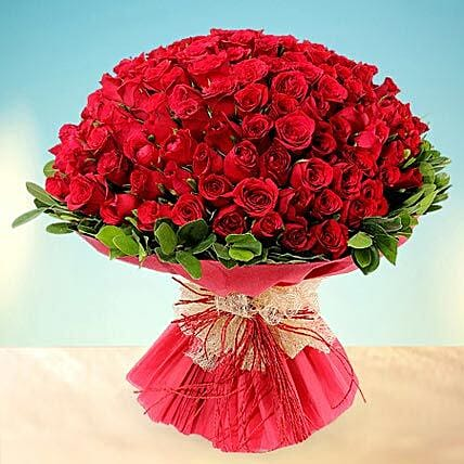 Treasured Love- 200 Red Roses Bouquet: