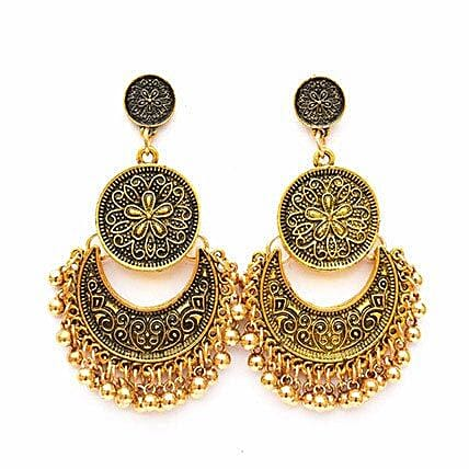 Ethnic Gold Ghungroo Earrings: Fashion Accessories