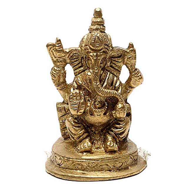Ganesha Brass Idol: Spiritual Gifts