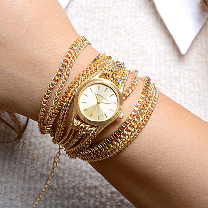 Gold Chain Watch For Women: Fashion Accessories