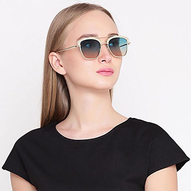Gold N Green Wayfarer Women Sunglasses: Accessories