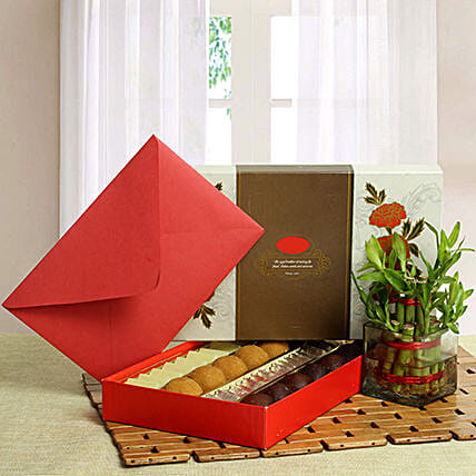Good Luck with Assorted Sweets: Bhai Dooj Gift Hampers